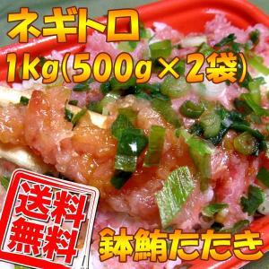 送料無料 ネギトロ(ばち鮪たたき)1kg(500g×2袋)業務用|kani