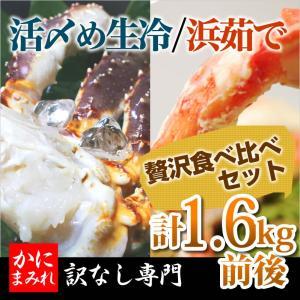 タラバガニ脚 お得な食べ比べセット(活〆生冷&ボイル2肩計1...