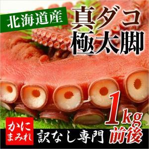 真たこ【極太一本】北海道産 お刺身用 ボイル 1本脚 (1kg前後) kanimamire