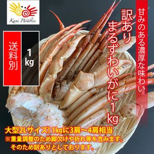 訳アリ まるずわいがに 1kg / かに カニ 蟹 オオエンコウガニ おおえんこうがに マルズワイガニ 丸ズワイガニ|kanipara