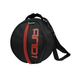 AND1 バスケット SURFACE BALL BAG ボールバッグ 05979 ブラック×レッド アンドワン ミニバス ダンス|kanisponet