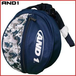 AND1 バスケット HOOK LOGO BALL BAG ボールバッグ 05997 ネイビー×ネイビーカモ アンドワン ミニバス ダンス|kanisponet