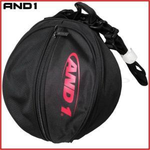 AND1 バスケット HOOK LOGO BALL BAG ボールバッグ 05997 ブラック×レッド アンドワン ミニバス ダンス|kanisponet