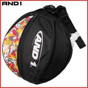 AND1 バスケット HOOK LOGO BALL BAG ボールバッグ 05997 ブラック×マルチカモ アンドワン ミニバス ダンス|kanisponet