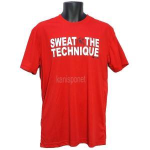 ■メール便選択で送料無料■ AND1 バスケット SWEAT THE TECHNIQUE TEE Tシャツ 33107 レッド アンドワン ミニバス ダンス|kanisponet