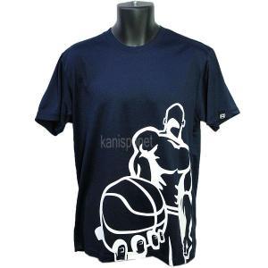 ■メール便選択で送料無料■ AND1 バスケット CHECKBALL TEE Tシャツ 51104 ネイビー アンドワン ミニバス ダンス|kanisponet