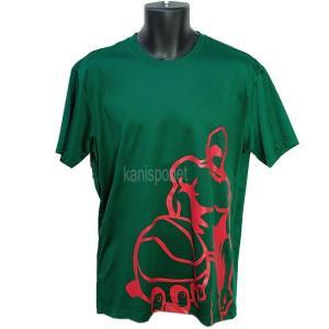 ■メール便選択で送料無料■ AND1 バスケット CHECKBALL TEE Tシャツ 51104 グリーン アンドワン ミニバス ダンス|kanisponet