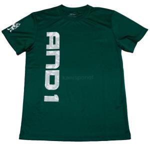 ■メール便選択で送料無料■ AND1 バスケット AND1 GRAPHIC LOGO TEE Tシャツ 53105 グリーン アンドワン ミニバス ダンス|kanisponet