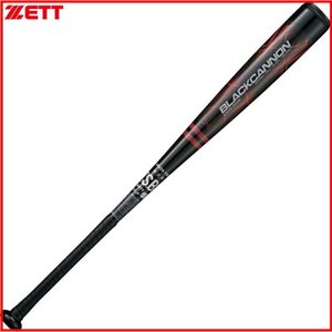 ZETT 軟式用FRPバット BLACK CANNON (ブラックキャノン) BCT31683 ブラック 83cm680g平均 トップバランス ブラック|kanisponet