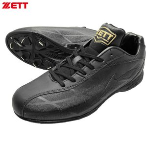 ZETT 埋込金具スパイク ウイニングロード BSR2276 ブラック×ブラック 野球 ベースボール kanisponet
