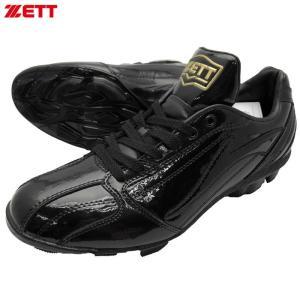 ZETT 樹脂底固定スパイク グランドヒーロー BSR4266 ブラック×ブラック|kanisponet