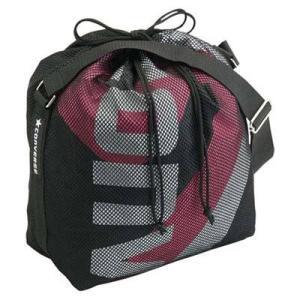 CONVERSE バスケット ボールケース(1個入) C1057098 ブラック×ピンク コンバース ミニバス|kanisponet
