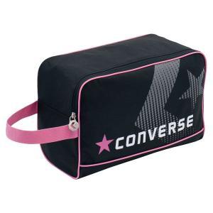 CONVERSE バスケット シューズケース C1500097 ブラック×ピンク コンバース ミニバス|kanisponet