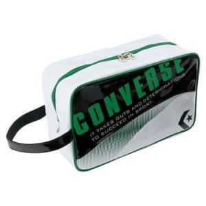 CONVERSE バスケット エナメルシューズケース C1508097 ブラック×グリーン コンバース ミニバス|kanisponet
