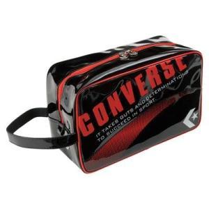 CONVERSE バスケット エナメルシューズケース C1508097 ブラック×レッド コンバース ミニバス|kanisponet