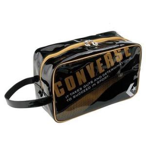CONVERSE バスケット エナメルシューズケース C1508097 ブラック×ゴールド コンバース ミニバス|kanisponet