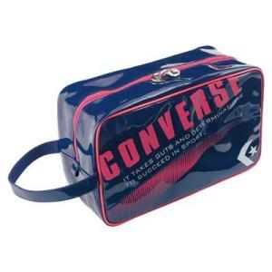 CONVERSE バスケット エナメルシューズケース C1508097 ネイビー×ピンク コンバース ミニバス|kanisponet