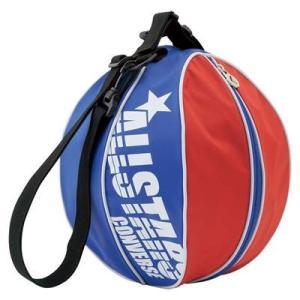 CONVERSE バスケット ボールケース 1個入れ C1510097 レッド×ブルー コンバース ミニバス|kanisponet