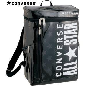 CONVERSE バスケット エナメルバックパック C1600012 ブラック×ホワイト コンバース ミニバス kanisponet