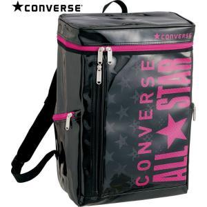CONVERSE バスケット エナメルバックパック C1600012 ブラック×マゼンダ コンバース ミニバス|kanisponet