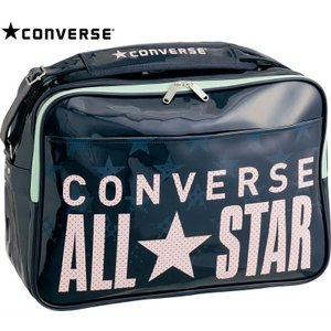 CONVERSE バスケット エナメルショルダー M C1600053 ネイビー×ピンク コンバース ミニバス|kanisponet