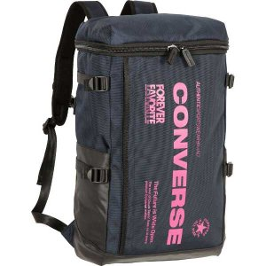 CONVERSE バスケット スクエアリュック バックパック C1754012 ネイビー×ピンク コンバース ミニバス|kanisponet