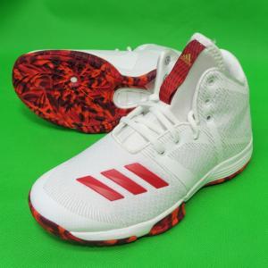 adidas ジュニア用 バスケットシューズ SPG K CG4310 ランニングホワイト×スカーレット×エナジーS17 アディダス バッシュ ダンス ミニバス|kanisponet