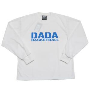 DADA BIG LOGO LONG TEE ロングTシャツ DA10-004 ホワイト ダダ 長袖 バスケット 【メール便選択で送料無料】|kanisponet