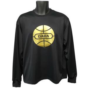 DADA Tシャツ BALL LONG TEE GOLD DA17-001G ブラック ダダ ダンス バスケ バスケット 【メール便選択で送料無料】|kanisponet