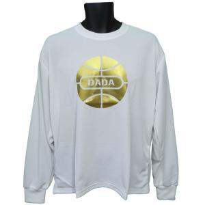 DADA Tシャツ BALL LONG TEE GOLD DA17-001G ホワイト ダダ ダンス バスケ バスケット 【メール便選択で送料無料】|kanisponet
