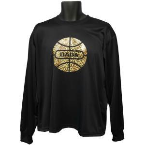 DADA Tシャツ BALL LONG TEE LEOPARD DA17-001L ブラック ダダ ダンス バスケ バスケット 【メール便選択で送料無料】|kanisponet