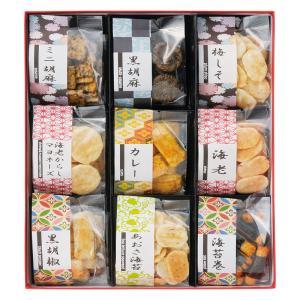 無料包装・無料熨斗名書き お煎餅9種詰合せ あられ煎 お祝 内祝 ご挨拶 ギフト|kanji