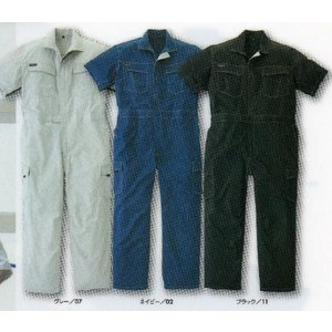 「つなぎ服」夏用半袖つなぎ服 2929-30 4L.5L寸メンズ|kanjya