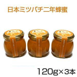 日本ミツバチの2年蜂蜜120g×3本 送料無料セット kanjyukuya