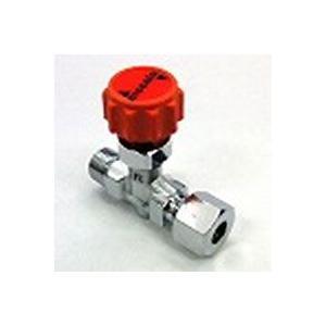 ニードルバルブ銅管くい込み口×RオネジCR-1208 | 8×R1/4(mm)