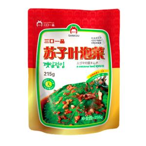 [冷]一品エゴマの葉キムチ215g-中国産