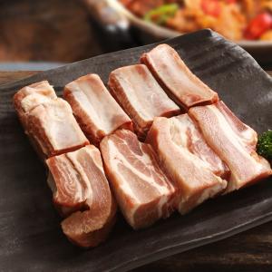 [凍]骨付き豚カルビカット約1kg-メキシコ産/バーベキュー/BBQ