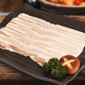[凍]豚の皮付きバラ肉スライス約1kg(厚さ5mm)-チリ産/韓国焼肉/BBQ|kankoku-ichiba