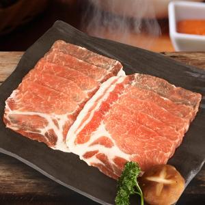 [凍]豚肩ローススライス約1kg(厚さ2mm)-チリ産/韓国焼肉/BBQ kankoku-ichiba