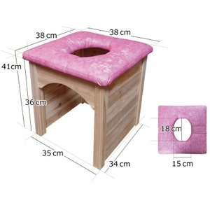 黄土壺を利用した木の可愛い椅子セット <br> よもぎ蒸し老舗ハンビビ  <br&...