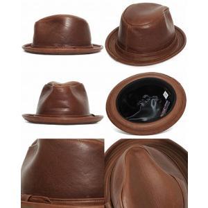 8590224e90e ... NEW YORK HAT ニューヨークハット 9290 Vintage Leather Fedora ビンテージ レザー ...
