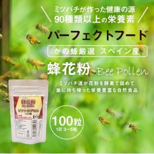 蜂花粉 ビーポーレン ソフトカプセル 100粒 はちみつ専門店 かの蜂 kanohachi