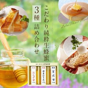 ギフト 国産蜂蜜3種セット 250g×3本 九州レンゲ 純粋はちみつ 百花 詰め合わせ プレゼント 蜂蜜 送料無料 蜂蜜専門店 かの蜂 kanohachi 02