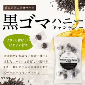 黒ゴマハニーキャンディー 80g 蜂蜜 飴 キャンディー はちみつ専門店 かの蜂|kanohachi|02