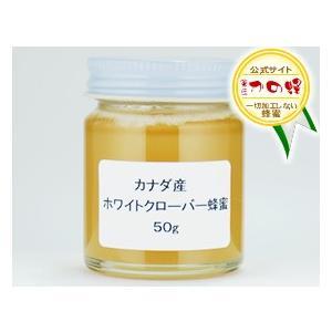 ホワイトクローバー蜂蜜 カナダ産 50g はちみつ専門店 かの蜂|kanohachi