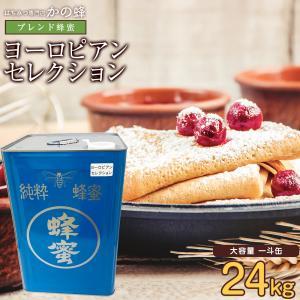 ヨーロピアンブレンド純粋はちみつ 24kg 大容量 一斗缶 業務用 はちみつ専門店 かの蜂 kanohachi