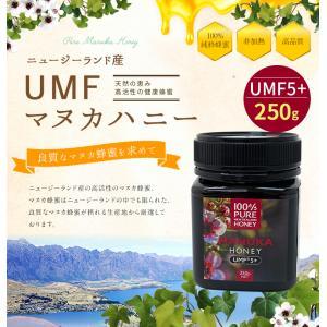マヌカ蜂蜜 UMF5+ 250g マヌカ 蜂蜜 マヌカハニー ニュージーランド産 蜂蜜専門店 かの蜂 kanohachi