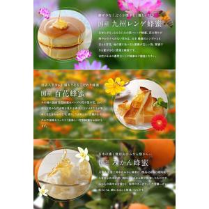 国産プレミアム蜂蜜新蜜(れんげ・みかん・百花各300g)新蜜3本セット はちみつ専門店 かの蜂|kanohachi|02