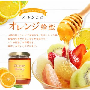 【メキシコ産】オレンジ蜂蜜 300g おれんじ 蜂蜜 完熟 純粋 はちみつ ハチミツ 蜂蜜専門店 かの蜂|kanohachi|02