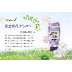 お中元 ピュアハニープッシュボトル3種(国産・ヨーロッパ産・アルゼンチン産)セット ギフト PURE HONEY  国産蜂蜜 はちみつ 蜂蜜専門店 かの蜂|kanohachi|05